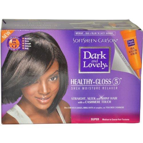 Dark and Lovely W-HC-1019 Healthy Gloss 5 Shea Moisture Relaxer Kit - Super - 1 Application - Hair Color by Dark & Lovely -  0330078