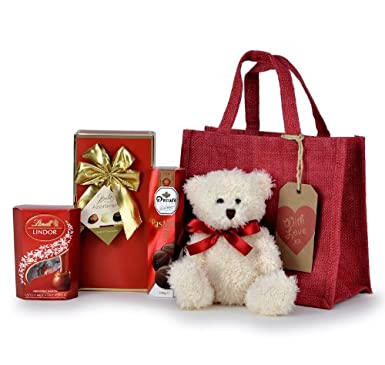 Valentine S Day Hampers Chocolate Lovers Gift Bag Amazon Co Uk
