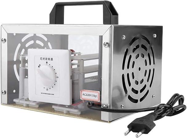 Pongnas Purificador de ozono, 20g Generador de ozono Purificador Purificador de Aire Máquina de desinfección de ozono para el hogar(UE, 220V): Amazon.es: Hogar