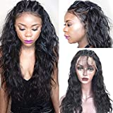 Sunwell Full Lace Human Hair Wigs with Baby Hair Glueless Brazilian Human Hair Wigs for Black Women Water Wave 130% Density Natural Color 16inch