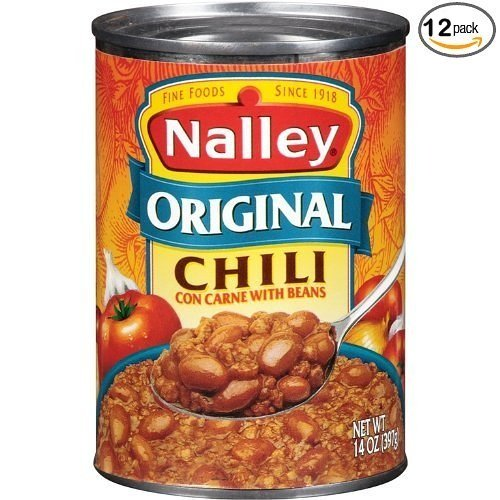 Nalley Original Chili Con Carne with Beans, 14-ounce Cans (Pack of 12)