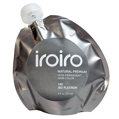 Premium Colour (IROIRO Premium Natural Semi-Permanent Hair Color 140 Iro Platinum (8oz))