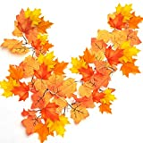 Artbest Led String Light, 8.2 Feet 20 LED Maples Led Decorations Light Waterproof Led Lighted Fall Garland for Halloween Christmas Party