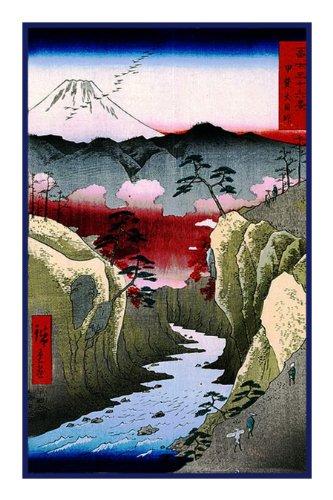 Orenco Originals Dog Eye Passby Japanese Hiroshige Counted Cross Stitch Pattern