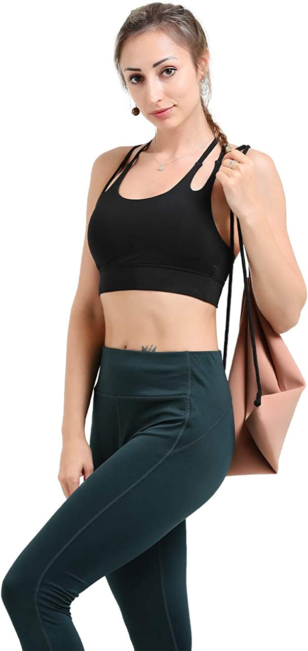 Infinite Role Womens Sports Bra Seamless High Impact Racerback Yoga Bra Full Support Activewear with Removable Pads