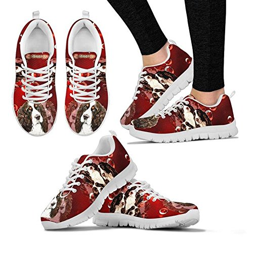 Running Choose Springer Women's Custom Spaniel Dog English Sneakers Your Casual Shoes Shoetup Breed Print fX8wgq