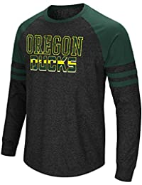 Mens Oregon Ducks Hybrid Long Sleeve Raglan Tee Shirt