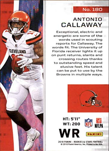 Amazon.com  2018 Rookies and Stars Football  180 Antonio Callaway Cleveland  Browns RC Rookie Official NFL Trading Card made by Panini  Collectibles    Fine ... f61dd1323