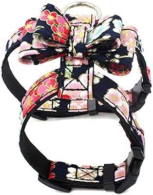 Jinzuke Suministros de impresión Floral del arnés Ajustable Collar ...