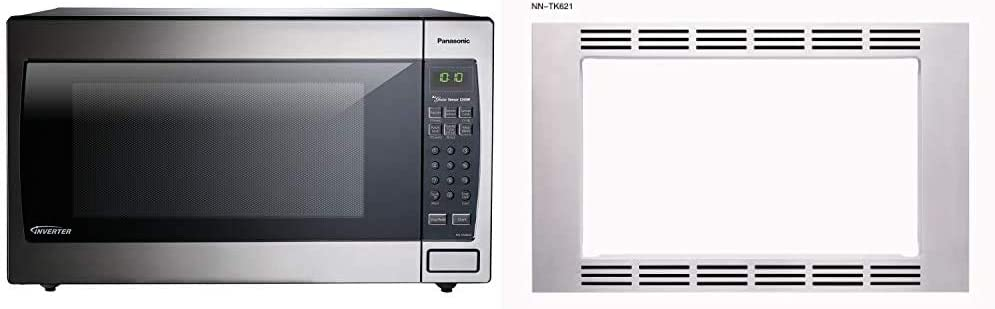 Panasonic Microwave Oven NN-SN966S Stainless Steel Countertop/Built-In, 2.2 Cubic Foot, 1250W & 27