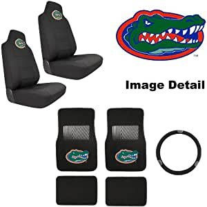 7pc uf university of florida gators car truck suv front rear seat carpet floor. Black Bedroom Furniture Sets. Home Design Ideas
