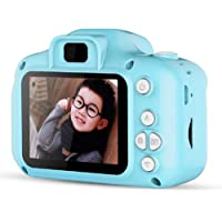 """WESSD Câmera digital infantil de 5 cm, mini filmadora de vídeo com adesivos de desenho """"faça você mesmo"""", recarregável…"""