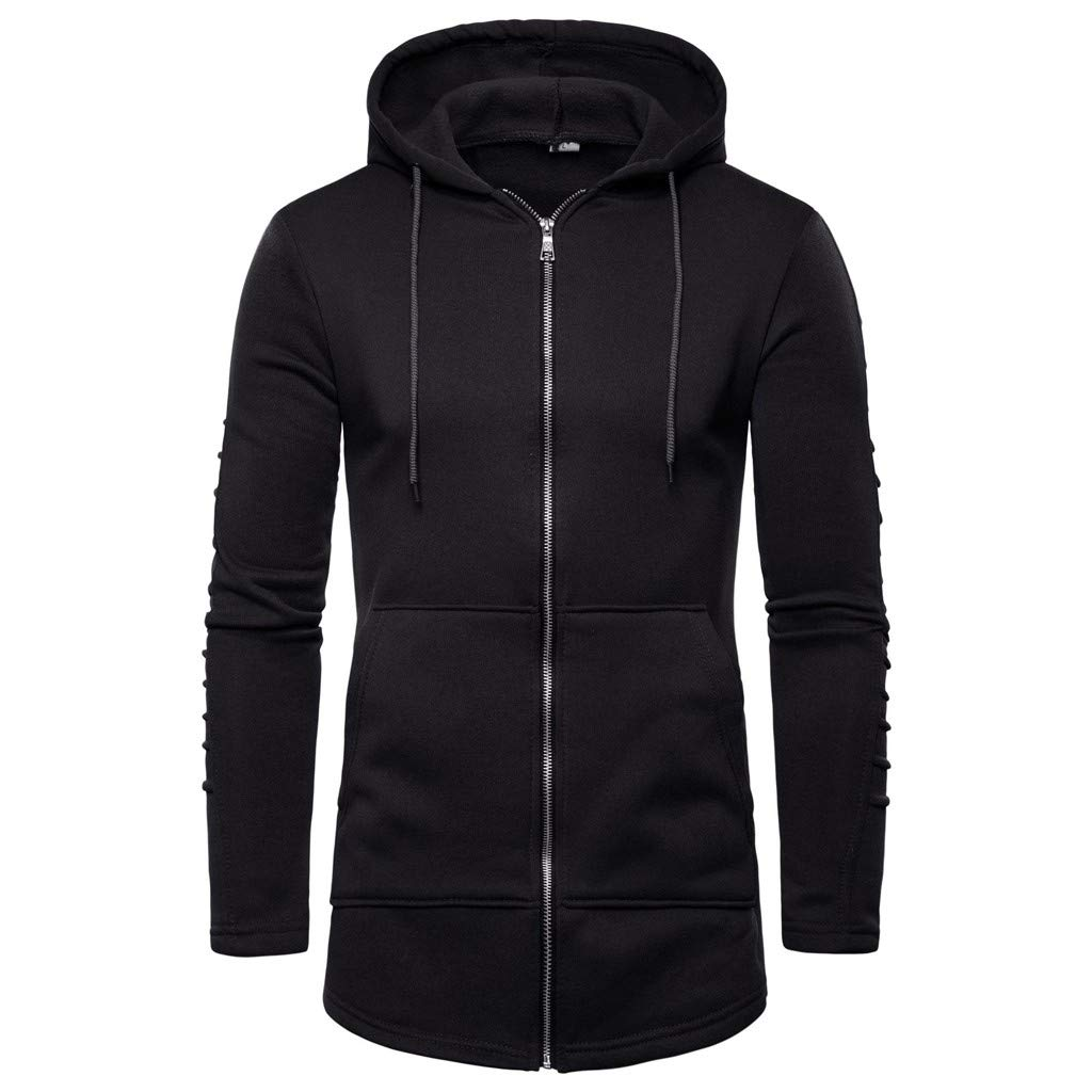 Pullover Hooded Sweatshirt for Men,Alalaso Men Long Splicing Fold Pullover Long Sleeve Hooded Sweatshirt Tops by Alalaso