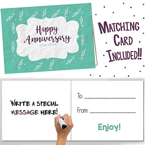 Unique 1st Wedding Anniversary Memory Book with Stickers and A Matching Card  5Second Memory Journal for Your Special Paper Anniversary  The Perfect Keepsake Booklet for Special Memories