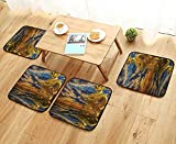 Printsonne Comfortable Chair Cushions ument Oriental Statue Traditial Temple Lover Wder Wildlife Animal Reuse can be Cleaned W17.5 x L17.5/4PCS Set