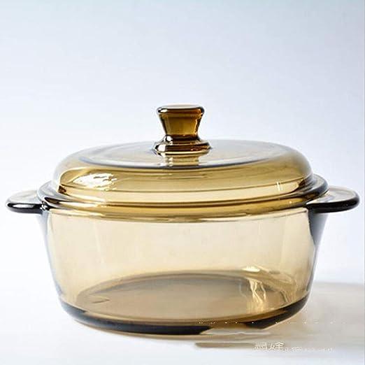 Tazón de sopa, transparente con la tapa del horno de microondas ...