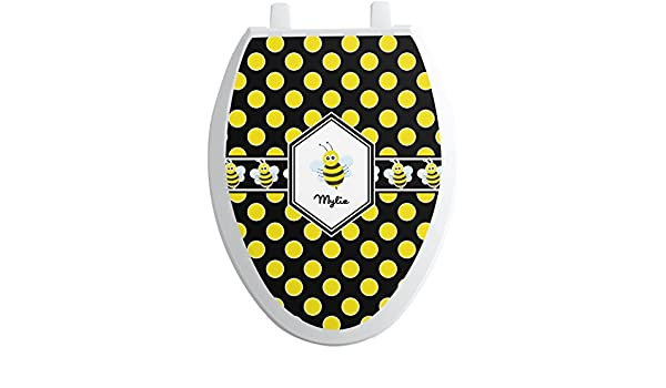 BUMBLE BEES LINED COTTON ELONGATED TOILET SEAT LID COVER