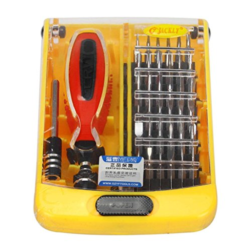 Professional 38 PCS Repairing Tool Case Kit Set With Screwdriver Bit Set for PC Laptop Mobile Cell Phone and More Other Devices