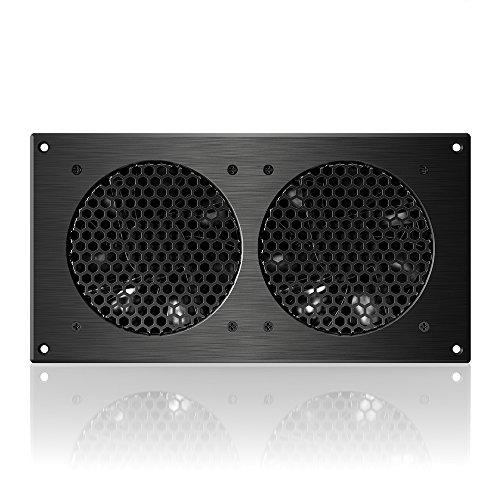 Infinity Dual Quiet Cabinet Fan Kit, for Home Theater AV Amplifier ...