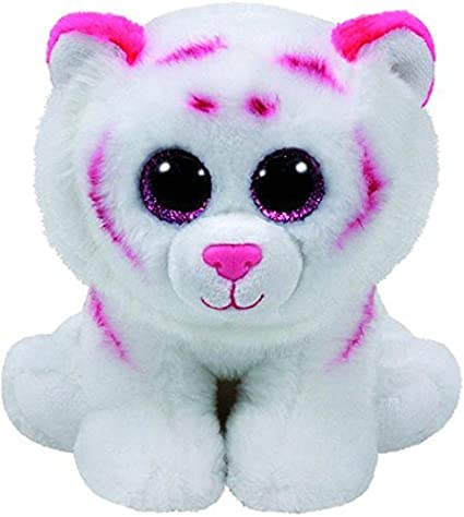 Amazon.com  TY Beanie Boos Regular Plush (Tabor - Pink   White Tiger ... 45865b4eb3cc