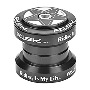 Bike Bearing Headset, Solid Aluminum Alloy Bicycle Tapered Stack Headset Head Tube Straight Steerer Fork Bearing