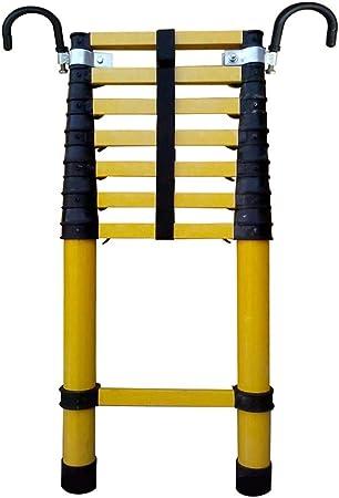 Escalera extensible Escalera telescópica Escalera telescópica de fibra de vidrio con gancho desmontable, escalera de extensión multiusos para uso doméstico diario de emergencia o industrial, 330 lb: Amazon.es: Hogar