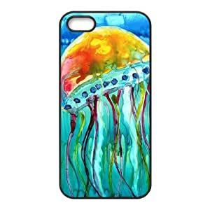 Custom Jellyfish Design TPU Case Protector For Iphone 5 5S