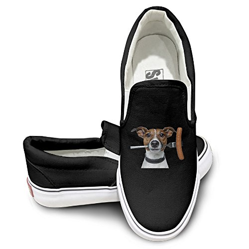 ALIPAPA Custom Men's & Women's Particular Jack Russell Terrier Fashion Shoes Black Size 41