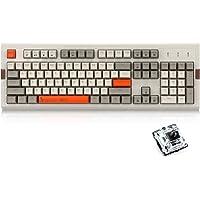 NACODEX AK510 Retro RGB Mechanical Keyboard 104 Keys Anti-Ghosting - PBT SA Spherical Keycap - Customizable RGB Backlit - Programmable Macro Function black AK510