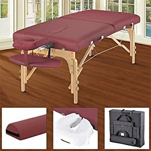 "31"" Berkeley LX Massage Table Package Includes: Bolster, 75 Disposable Face Cradle Covers & 4-pocket Carry Case"