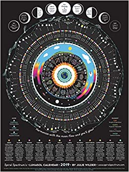 2019 Spiral Spectrum's LunaSol Calendar - Astrology / Astronomy