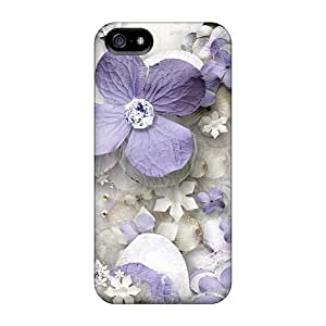 Excellent Iphone 5/5s Case pc Cover Back Skin Protector Lavender Flower Maze