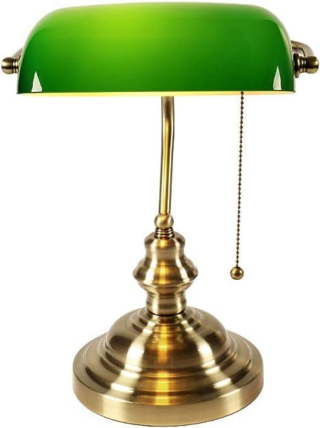 Lámpara de mesa retro clásico E27 con lámpara de mesa cubierta de ...