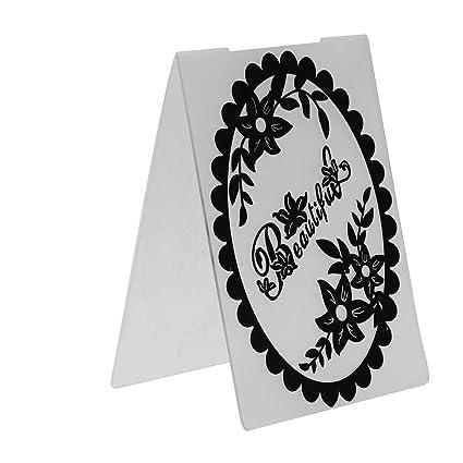 Amazon Com Album Scrapbooking Oval Flower Plastic Embossing