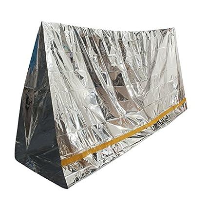 TENGGO Emergencia Aluminizado Sombrilla Manta Primeros Auxilios Aislante Bolsa De Dormir Al Aire Libre Camping Supervivencia