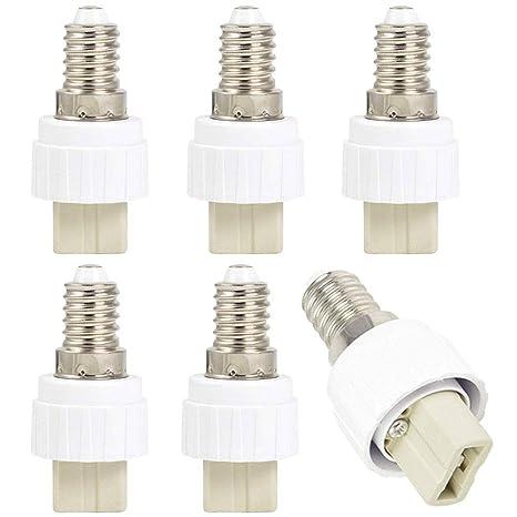 Bombilla adaptador convertidor – Casquillo E14 a G9 – Portalámparas para lámparas G9 LED, bombillas