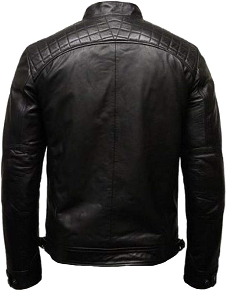 Stormwise Mens Fashion Real Leather Biker Jacket
