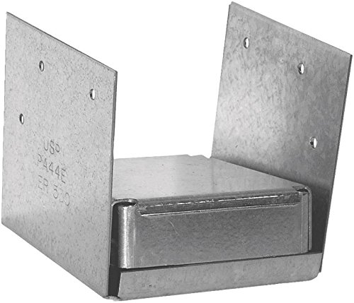 USP Structural Connectors PA44E-TZ G185-Triple Zinc Galvanized 2-Sided Post Anchor, 4 by - Usps Economy