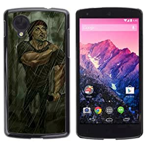 Lmf DIY phone case [Funny Stallone Rambo Illustration] LG Google Nexus 5 CaseLmf DIY phone case