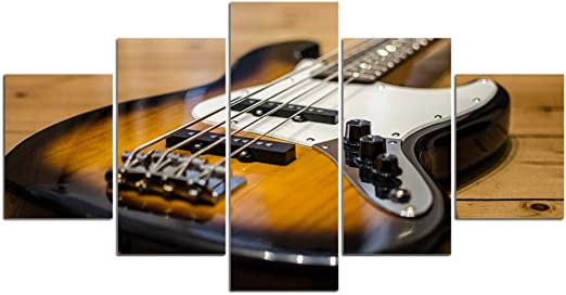 UDPBH 5 Paneles Guitarra Instrumento De Cuerda Pintura Lienzo Arte ...