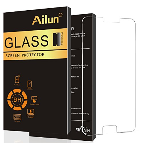 AILUN Screen Protector Compatible with Galaxy S6,Tempered Glass,Compatible with Galaxy S6,9H Hardness,2.5D Edge,Anti-Scratch,Case Friendly-Siania Retail Package