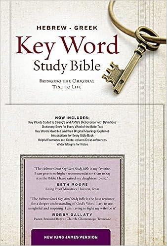 The Hebrew-Greek Key Word Study Bible: NKJV, Genuine Leather