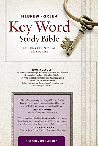 The Hebrew-Greek Key Word Study Bible: NKJV, Genuine Leather Black Indexed (Key Word Study Bibles) (Greek Translated Bible)