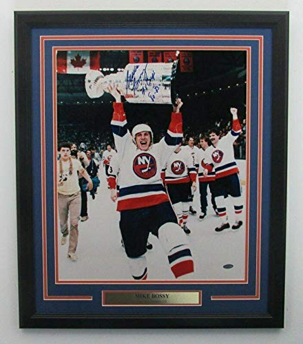 Signed Mike Bossy Photo - Framed Inscribed 16x20 Color 141836 - Steiner Sports Certified - Autographed NHL Photos