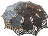 Black Cotton Parasol