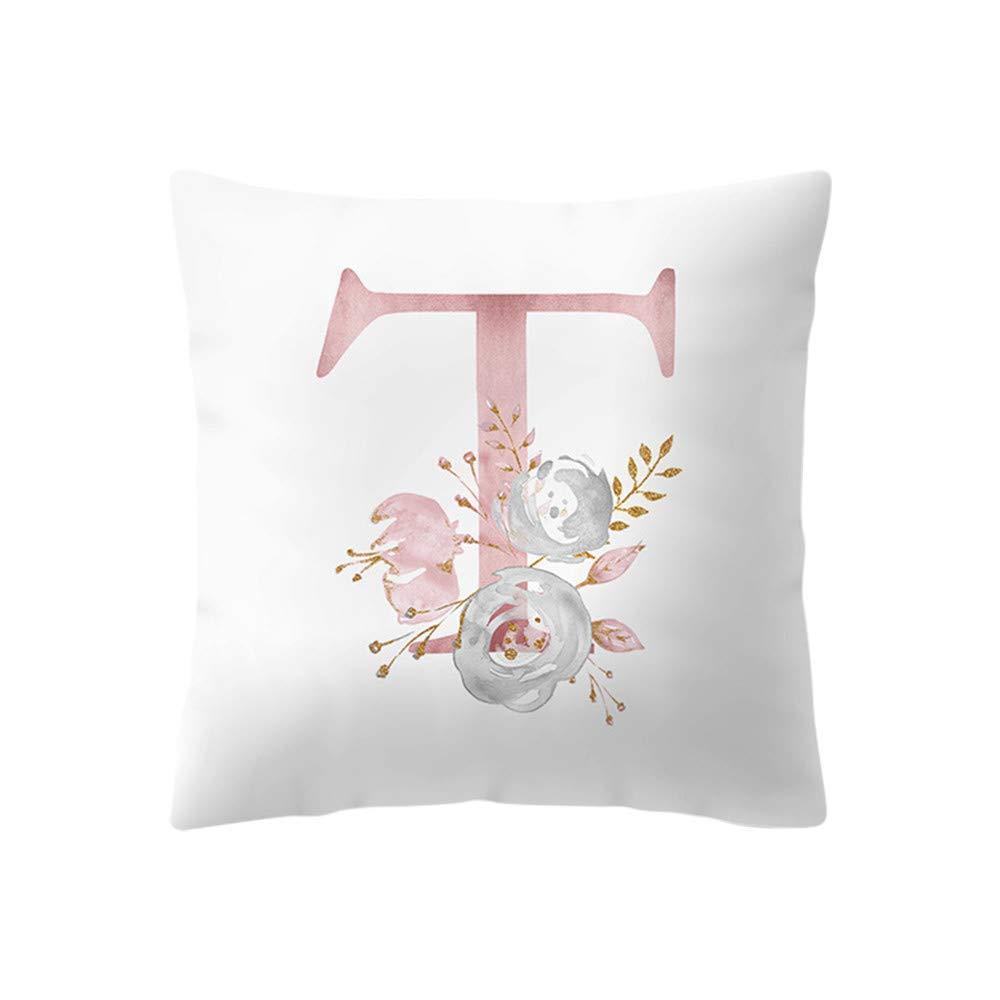 Pillow case Protector,EOWEO 45x45 cm Kinder Zimmer Dekoration Brief Kissen Englisch Alphabet Pillowcases