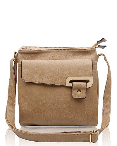 RS.FASHIONS Messenger Bags, Borsa a tracolla donna Multi Colour M Almond