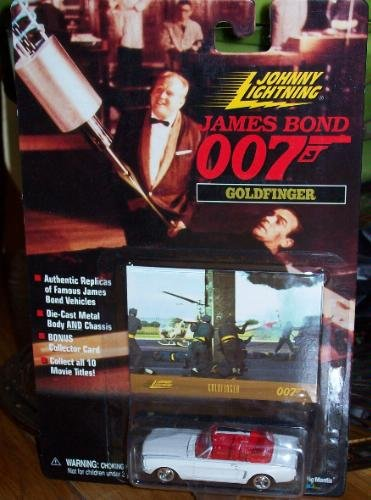 Johnny Lightning James Bond Goldfinger White Mustang