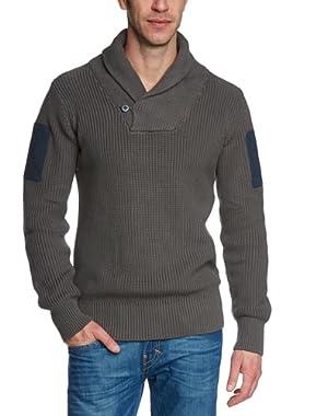 G Star RAW HUNT SHAWL Collar Knit Sweater L/S, Castor, Size XXL $160