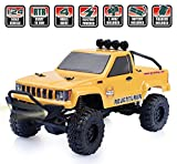#7: RGT RC Crawlers Car RTR 1/24 Scale 4wd Off Road Monster Rock Crawler 4x4 Mini RC Truck with LED Lights